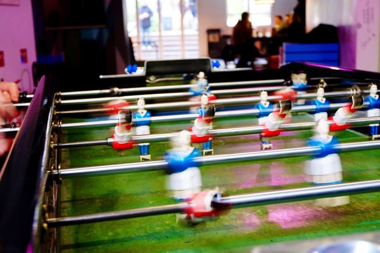 Blurred motion of foosball