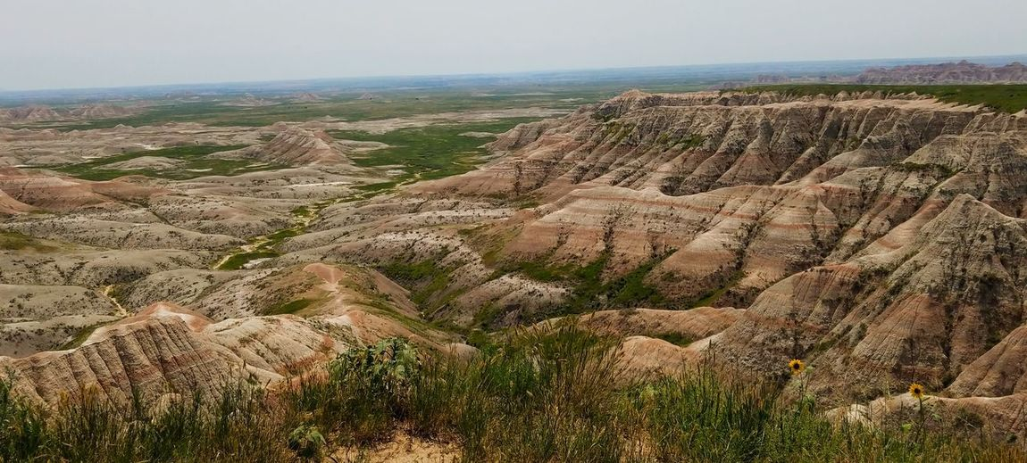 Badlands National Park Badlands National Park, South Dakota Vista Horizon Nature Nature Photography Naturelovers Nature On Your Doorstep Earth Geology Geological Formation Cliff Arid Climate Sky Landscape Physical Geography Rugged Rock Formation Natural Landmark