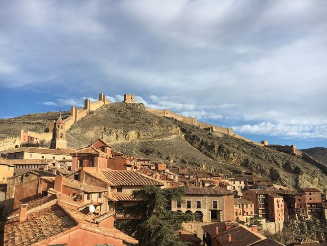 Magnificent view over the old town of Albarracín village view SPAIN Albarracín sky day outdoors no people town first eyeem photo SPAIN Teruel Aragón Village View Albarracín