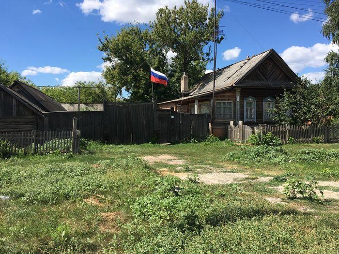 ворота Деревни в России Russland Russia Россия Day день деревня дом House Built Structure Going Remote