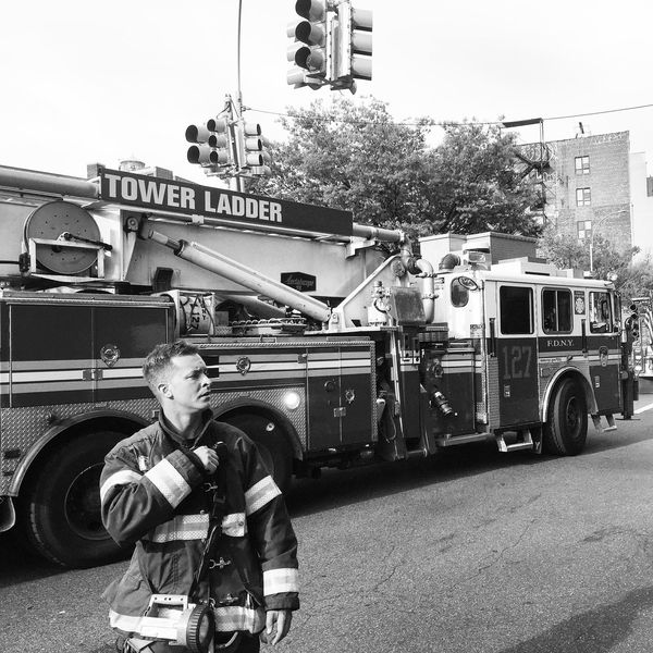 NYC Photography Fireworks Firedepartment B&w Street Photography Streetphotography