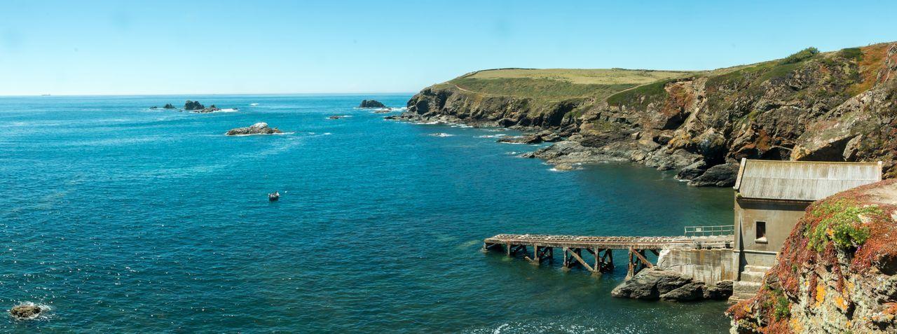 The Lizard Lizard Coast Panorama Cornwall
