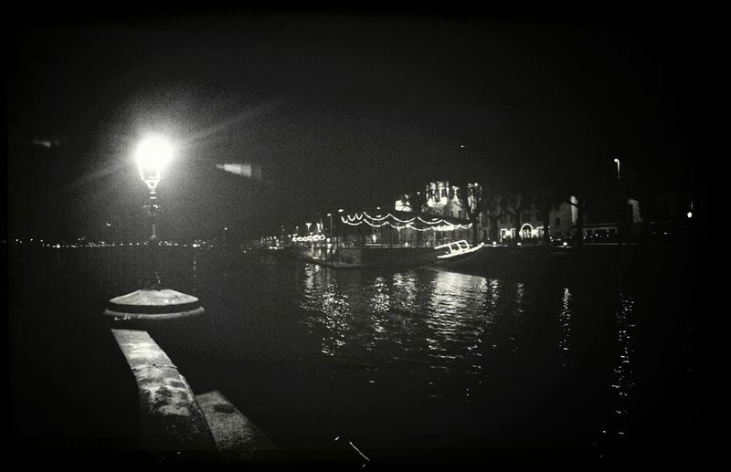 Light in late night.