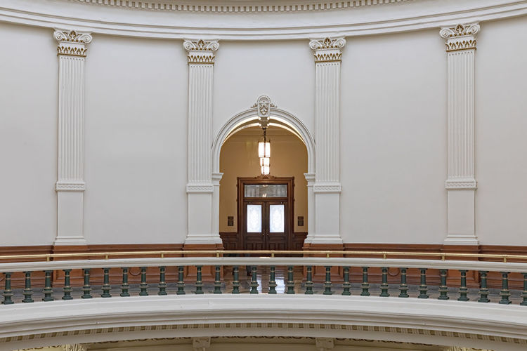 Austin Texas Downtown State Capitol Building Interior Old Architecture Office House Historic America Capital Dome Government Legislature  TX White Inside Design Blue Business Symbol Sky Travel Detail Tourism Urban Stone Structure History American Landmark USA Monument Built Structure Indoors  No People Railing Arch Architectural Column Ceiling Architectural Feature Arts Culture And Entertainment Travel Destinations Travel