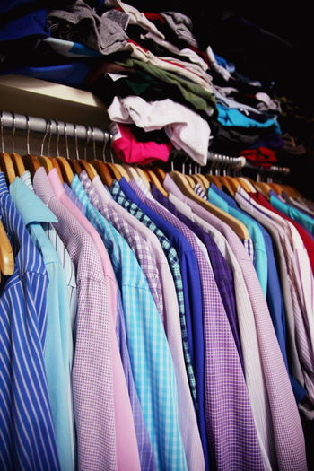 Abundance Arrangement Choice Closet Cloth Clothing Coathanger Collection Colorful Cotton Dress To Impress Fabric Full Frame Home Interior In A Row Large Group Of Objects Mensfashion Menstyle Menswear Multi Colored No People Pastel Shirt Textile