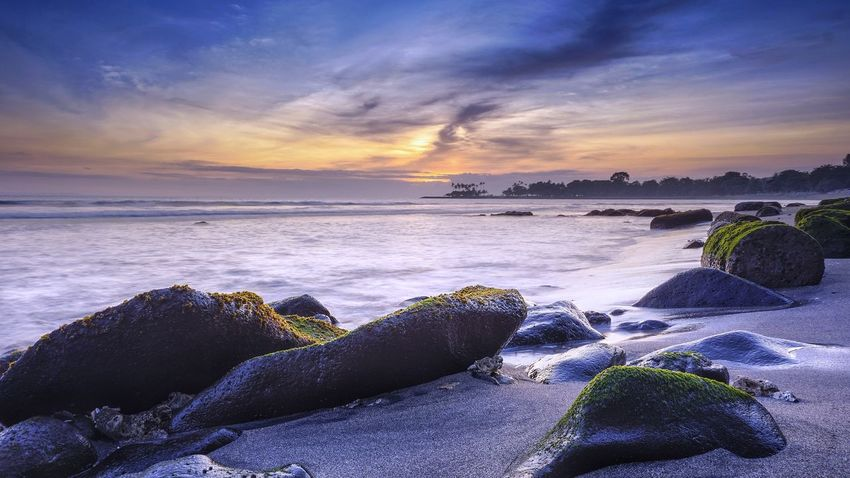 Beach Sea Sunset Horizon Over Water Water Landscape Sky Nature Beauty In Nature Sunlight Outdoors Travel Destinations