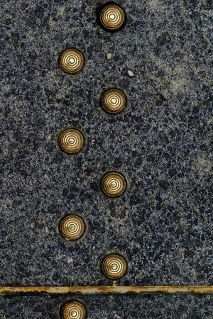Ground Floor In A Row Backgrounds Close-up Decoration Metal Metal Buttons No People