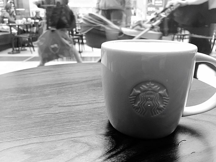 Weekend Feelings Lunchbreak Starbucks Drink Coffee - Drink Coffee Cup Table Food And Drink Refreshment Indoors  Cafe Cappuccino
