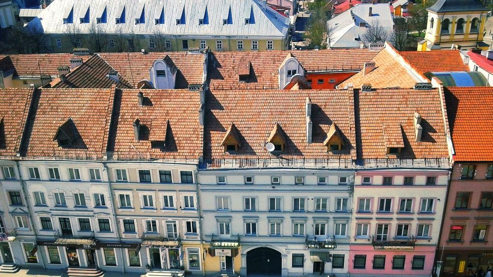 EyeEm Selects Building Exterior Architecture Outdoors Built Structure No People Residential Building Travel Destinations City Roof Cityscape Ivano-frankivsk Travel Old Buildings Top View Rooftop