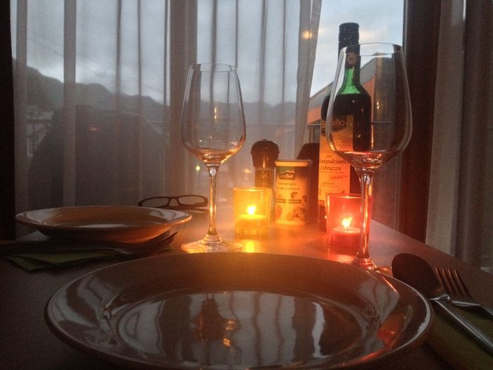 Romantic Dinner HUAWEI Photo Award: After Dark Alcohol Bottle Container Crockery Drink Drinking Glass Food Food And Drink Freshness Glass Glass - Material Household Equipment Indoors  No People Red Wine Refreshment Setting Still Life Table Transparent Window Wine Wineglass Capture Tomorrow