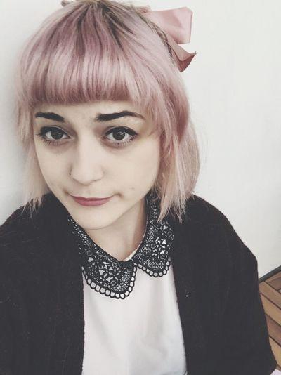 New hair 🎀🌸 Hair Pink Hair Peter Pan Collar