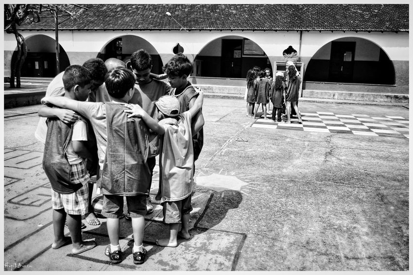 People Togetherness Day Social Photography Black & White Leisure Activity Black And White Children School Life  School Social Documentary Children Photography Freshness Cheerful Happiness Team Work