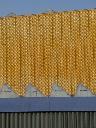 Philharmonie | Berlin Architectural Feature Architecture Architecture_collection Architecturelovers Berlin Berliner Ansichten Building Exterior Built Structure Façade Golden Minimal Minimalism Minimalist Architecture Minimalobsession No People Urban Geometry Urban Photography Yellow