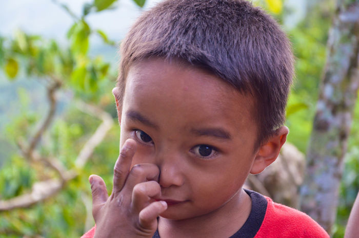 Child @ Manila, Philippines. Young Boy Young Boy Child Children Manila, Philippines Manila Philippines People Portrait Teardrop Eye Color Child Abuse Crying Brown Eyes Eye Sadness Depression - Sadness 50 Ways Of Seeing: Gratitude