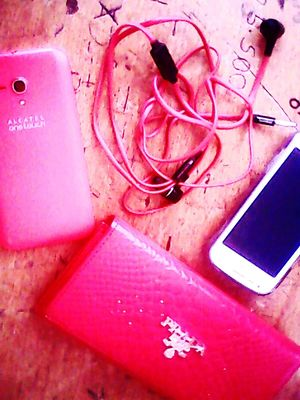 all is red! phone,earphone,portman !!!like red color!