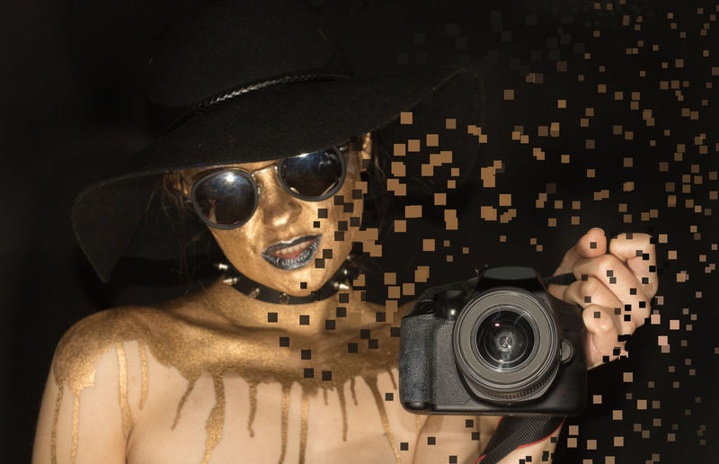 Designs.... Camera Camera - Photographic Equipment Camera Work Cameras Gold Makeup Pixels Woman Close-up Day Gold Colored Headshot Indoors  Makeupartist Music One Person People Photoshop Pixel Pixelated Surreal Surrealism Surrealist Art Technology Young Adult Inner Power Visual Creativity