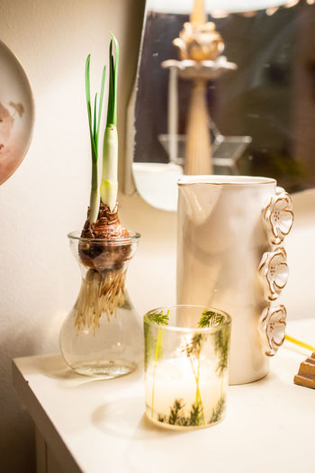 Table No People Indoors  Food And Drink Close-up Plant Nature Container Transparent Drink Freshness Food Focus On Foreground Still Life Refreshment Potted Plant Vase Glass - Material Jar Herb Glass Temptation