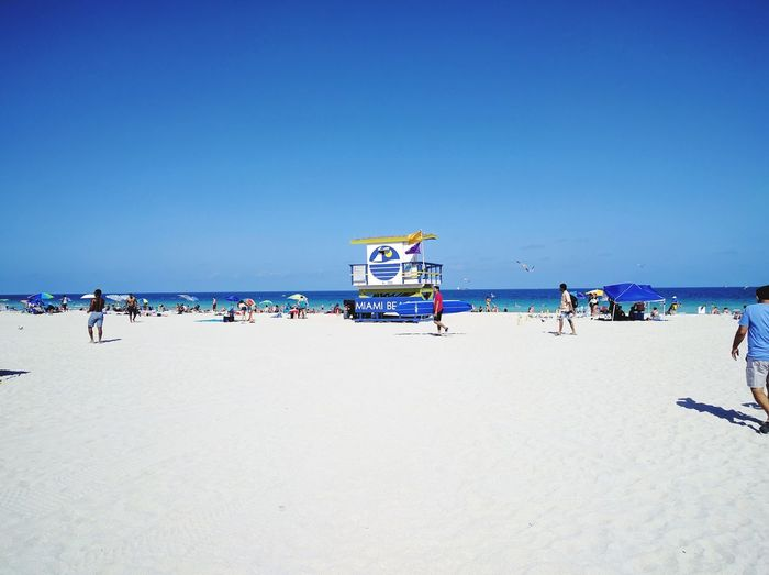 Maimi beach Beach Sea Sand Vacations Clear Sky Blue Leisure Activity Sunlight Outdoors Large Group Of People Sky Tourism Nature Summer Beach Holiday Travel Destinations Day Scenics Water Florida Maimi