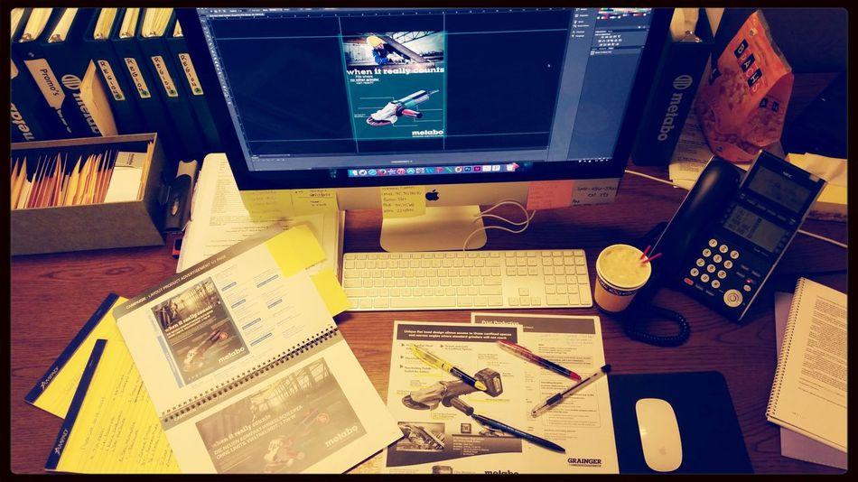 It's Business Time Design Working Coffee #computer #iMac #adobe #photoshop #ads #marketing #life #ilovemyjob #whatidobest #whatiwenttoschoolfor #applelife