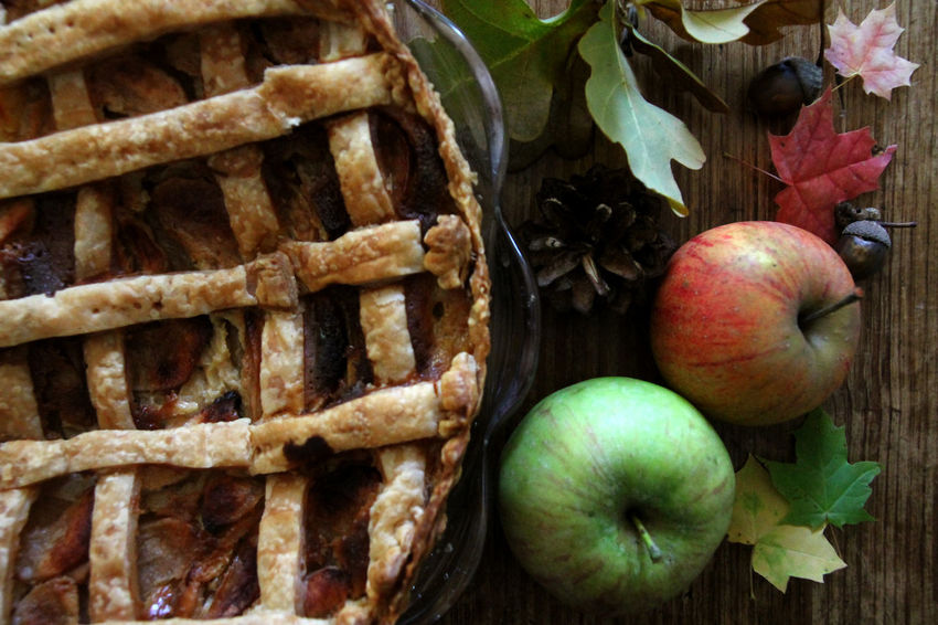 Homemade Food Apple - Fruit Apple Pie Apples Autumn Food Baked Close-up Day Directly Above Food Food And Drink Freshness Fruit Healthy Eating Homemade Cake Indoors  No People Shabby Chic Sweet Food
