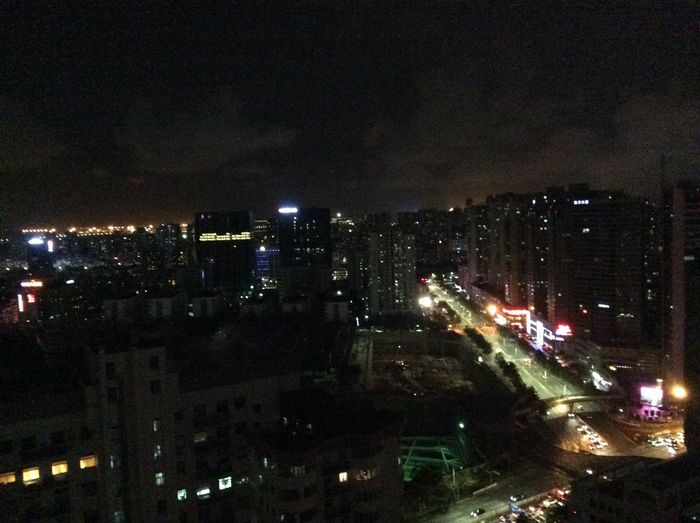 Somewhere in Shenzhen. Love the night but feel lonely.