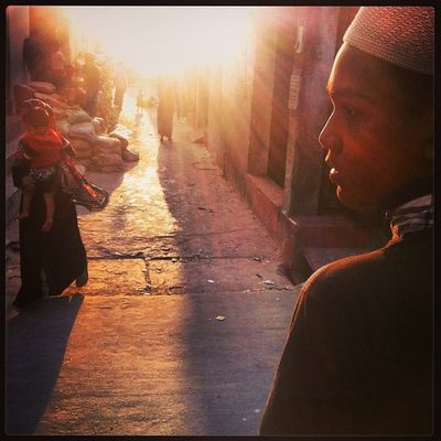 Sun Ray Light Shadow Winter Evening People Mother Child Color Daily Life Street Chaktai Chittagong City Instagram
