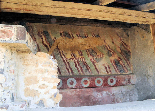 This is an original mural of a puma found at the Pyramids in Teotihuacan, Mexico. Incredibly the color is still in pretty good shape Aztecs Mexico Pyramids Ancient Civilization Ancient Cultures Architecture Built Structure Day Discovery History Mural Nature No People Original Color Outdoors Preservation Puma Teotihuacan