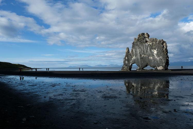 Beach Beauty In Nature Cloud - Sky Landscape Rock - Object Scenics Sky Water