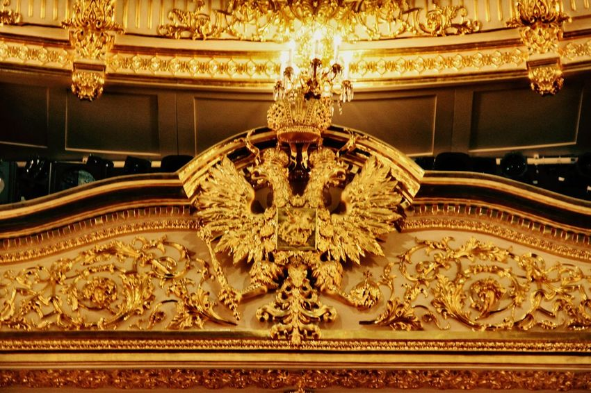 Ornate Architecture Eagle Luxury Moscow, Russia Moscow, Москва Bolshoi Theater Bolshoi Theatre BolshoiTheatre No People Architecture Illuminated Royal Golden Royal Box Box