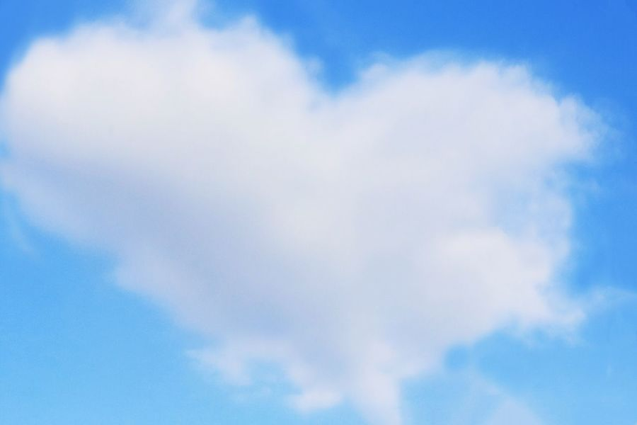 Sky Cloud - Sky Blue Day 空 青空 Cloud Heart はーと Heartcloud Mar No People Cute 可愛い いつかの空 Japan 日本