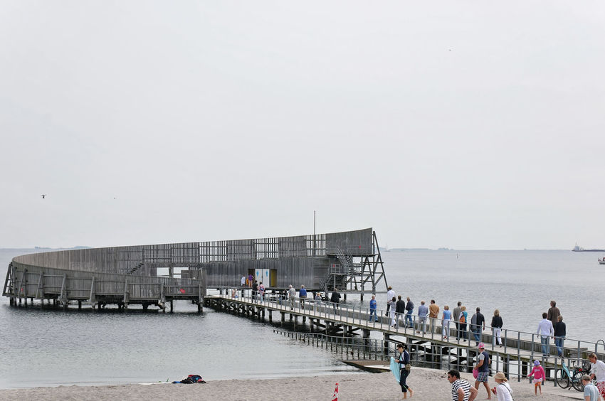 Kastrup Sea Bath von White Arkitekter A/S Bridge Pier Summer Vacation Water Waterfront Wodden Architecture Nikon D300s Nikon 18-200 Swimming Bath Swimming Seaside Seascape Sea And Sky Beech On The Beech Modern Architecture Wooden Architecture Denmark Summer In Denmark Built Structure Transparency People Gettyimages