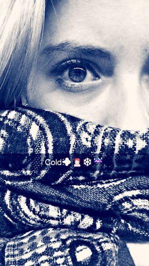 Self Portrait Monochrome Winter Cold