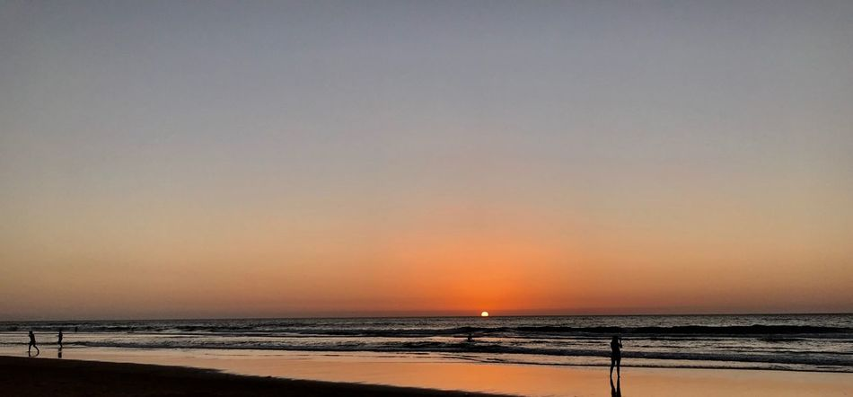 Sea Beach Scenics Beauty In Nature Water Sunset Tranquility Horizon Over Water Orange Color No People Wave Relaxation Beauty In Nature Weekend Activities Sand Cascais praia do Guincho