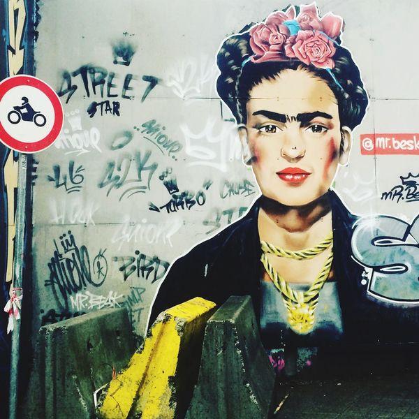 Wall Graffiti in Istanbul Turkey for my Favorite Woman Frida Portrait Woman Portrait EyeEmNewHere The Street Photographer - 2017 EyeEm Awards