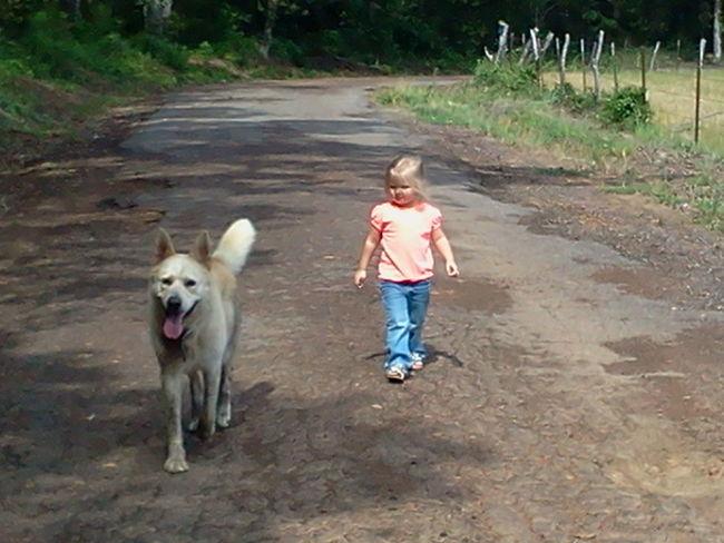 Walking Family Emotions Grand Daughter