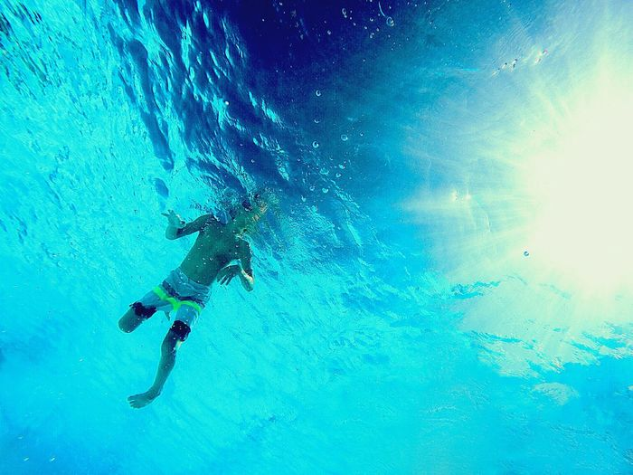 Underwater Scuba Diving Blue Sea UnderSea Water Swimming Adventure Low Angle View Exploration Outdoors Nature Sea Life Looking Up Gopro Alone Alone In The Sea Alone In The World Child Childhood Swim Clear Water Tropical Paradise Tropical Blue Water The Week On EyeEm Perspectives On People See The Light Summer Exploratorium Visual Creativity Summer Sports Be Brave A New Perspective On Life Humanity Meets Technology