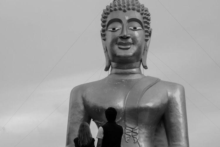 Buddha Buddha Statue Buddhism Couple Religion Thailand Pattaya Colour Of Life People Asian Culture