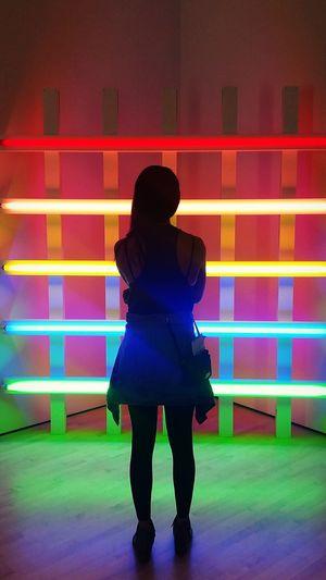 Rainbow🌈 Lights SFMOMA Art SFMOMA Observer Neon Trance Art Standing SF Bright EyeEmNewHere EyeEm Selects