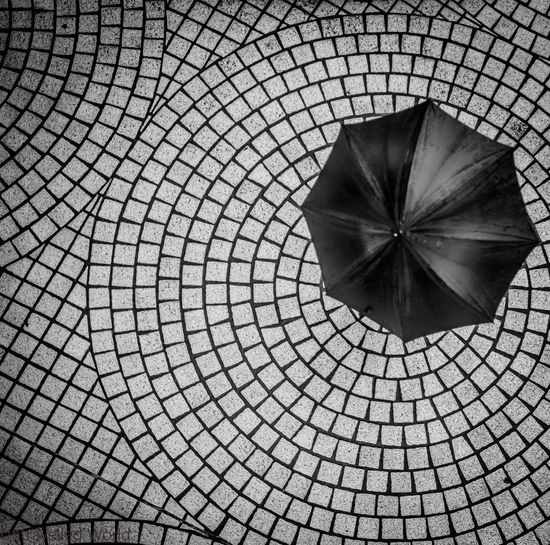 High Angle View Of An Umbrella