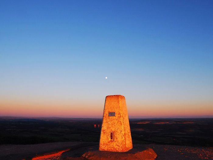 The Wrekin England Outdoors Outdoor Photography Travel Moon Sunset