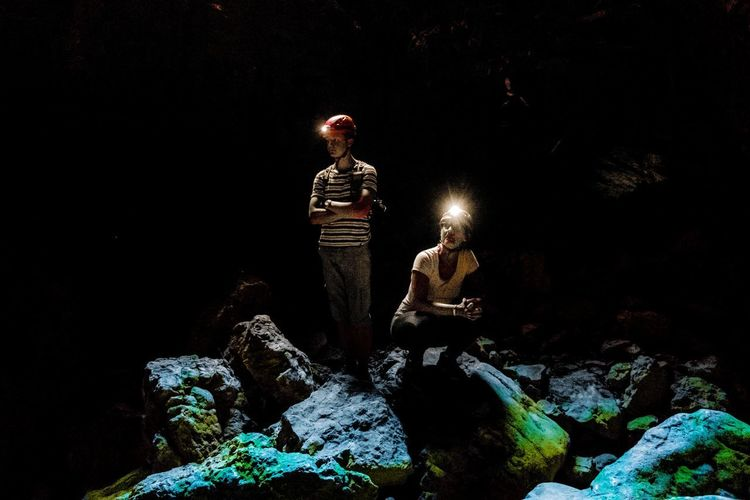 Underground scientist Underground Holidays Cave Caves Photography Cave Tours Cave Tours Nicospecial Nicospecial.de Schadow And Lights Night One Man Only Only Men One Person People Adult Adults Only Outdoors Illuminated Black Background Sky UnderSea The Great Outdoors - 2018 EyeEm Awards
