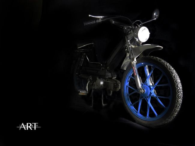 Transportation Land Vehicle Mode Of Transport No People Bicycle Black Background Indoors  Close-up Day Bike Puch