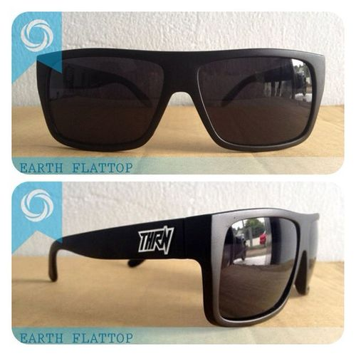EARTH flattop ! 08990125182 / 237EDE37 to order. Available on black DOFF, glossy black, charlie brown ! Grab fast Flattop Eyewear Sunglasses