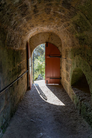 Castle Hohenstein Arch Architecture Built Structure Day Indoors  No People The Way Forward Tunnel