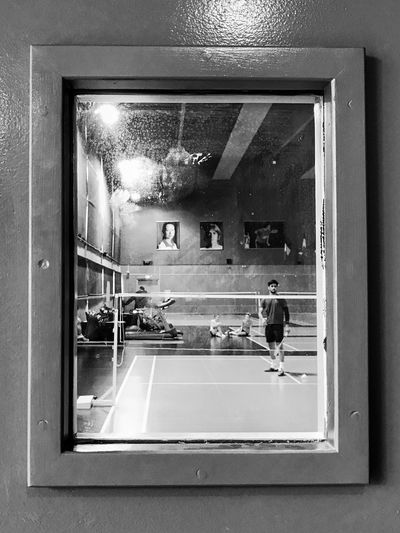 End of the Badminton session at Insep (national Institute of Sport) through the Window 😀 favorite Sport Paris France Indoors  Throuhg The Window Iphoneonly Outofthephone Mobilephotography Photooftheday IPhoneography Iphonephotooftheday Iphonephotography EyeEm IPhoneography Iphonographie Snapseed Moments Training Moment Bnw_mood Bnw Bnw_captures Black And White