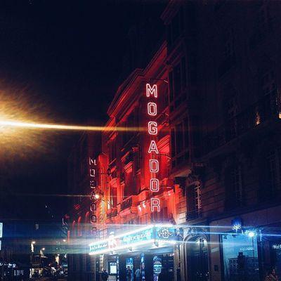 Vscocam Paris Theatre Mogador night lighting neon
