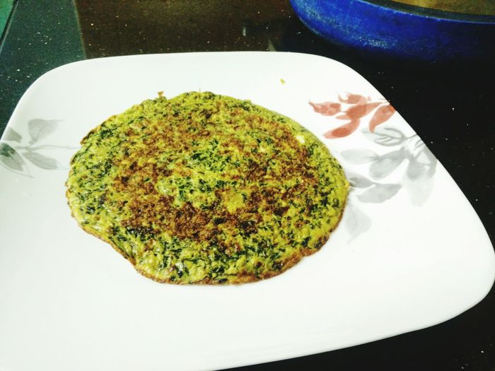 Healthy Eating Freshness Eggs... Spinach Spinach Omelette Indian Recipe Delicious ♡
