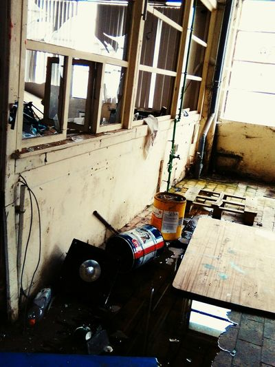 Indoors  No People Day Text Street Art Abandoned Abandoned Places EyeEm Diversity The Secret Spaces Close-up Undergroundphotography High Angle View Factory, Industrial, Warehouse, Proof Room, Abandoned Place, Staircase,
