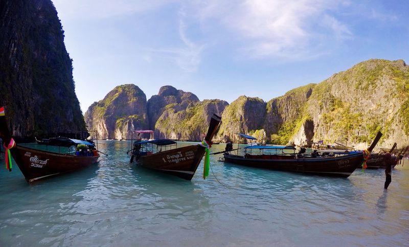 Rainy days seriously making me miss this Thailand Phiphiisland Maya Bay ASIA White Sand Beach The Beach  Long Boat