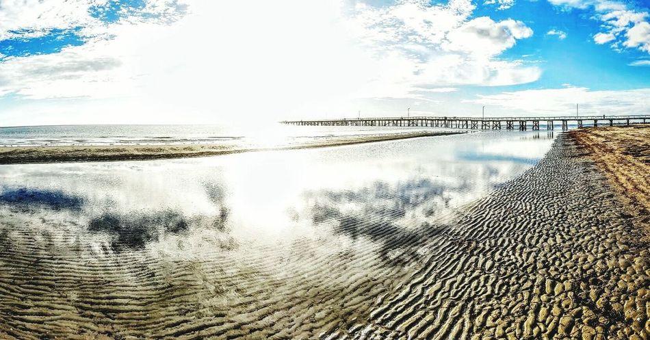 Beach Tranquil Scene Cloud - Sky Outdoors Beauty In Nature Nature Tourism Beauty In Nature Tranquility Sea Beachphotography Beachlife Australia No People Water Sky Scenics Day Nature Photography Tranquility Adelaide, South Australia Livingthedream Livingthegoodlife Reflection